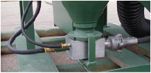 Aerated Feed Valve for Fine Abrasives